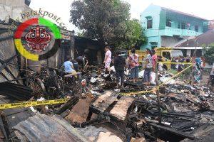 Kebakaran di Sibolga, 4 Septor dan Uang Rp160Juta Hangus