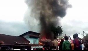 Kebakaran di Sibolga Baru, 4 Rumah Habis