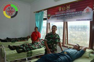 Korem 023/KS Bersama PMI Lakukan Donor Darah