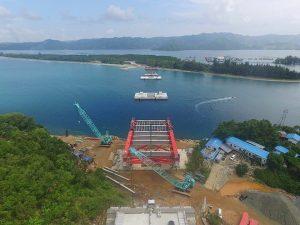 Beginilah Proses Pembangunan Jembatan Penghubung Jayapura ke Muara Tami