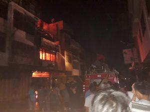 Barusan Ruko Asiong Shoes Dekat Pasar Horas Siantar Terbakar